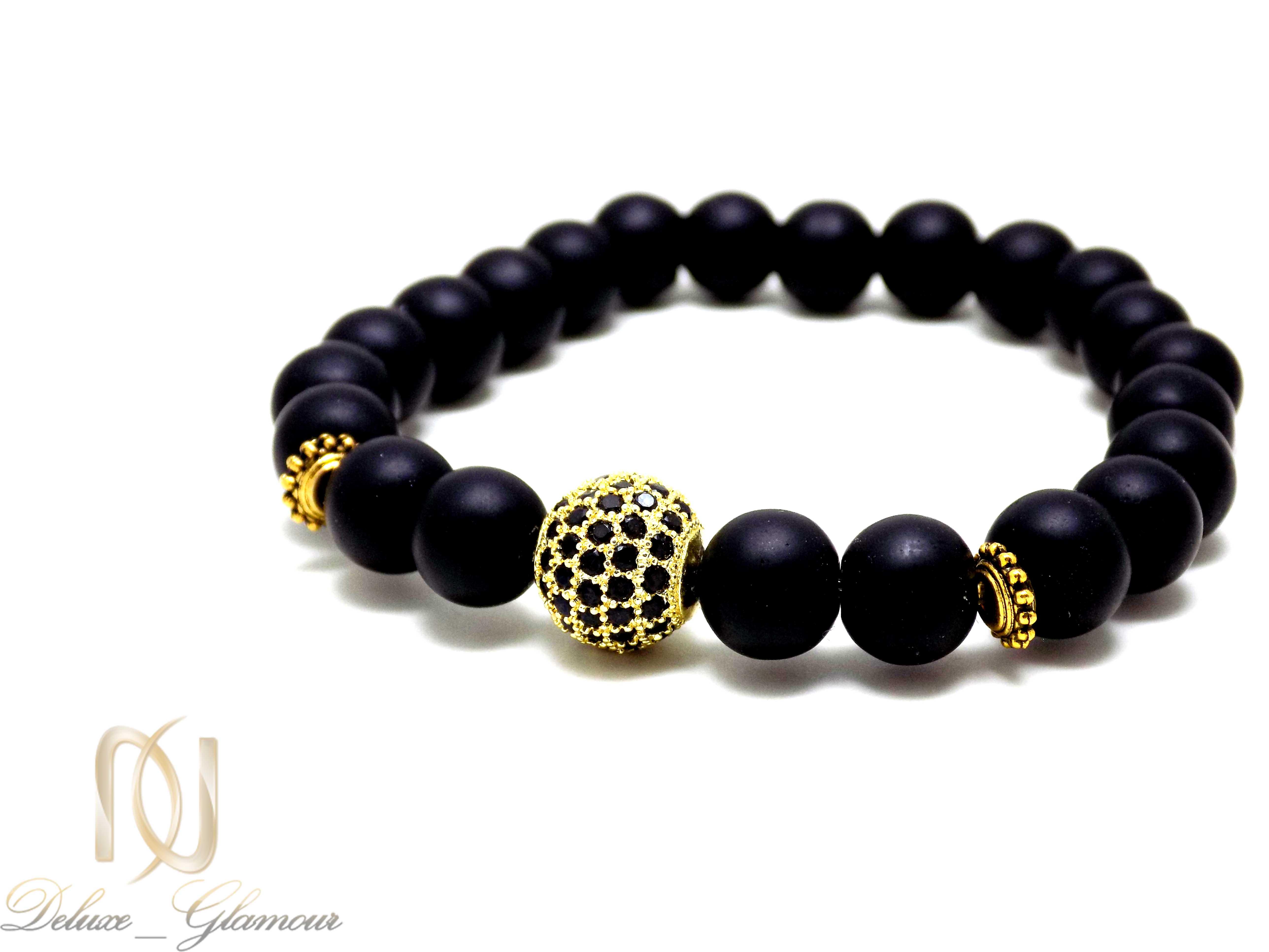 ست دستبند دخترانه و پسرانه طرح کروی Ds-n331 - مهره طلایی