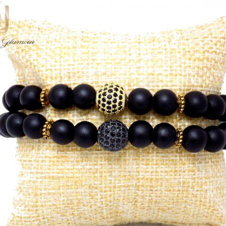 ست دستبند دخترانه و پسرانه طرح کروی Ds-n331 - عکس اصلی