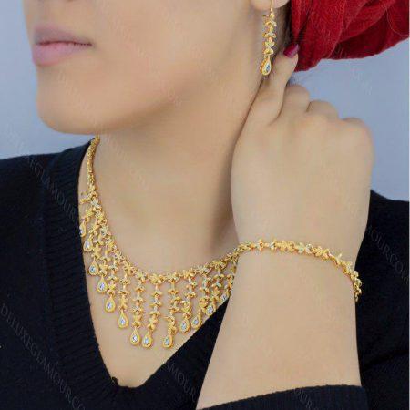 سرویس برنجی طلایی آویزی se-v101