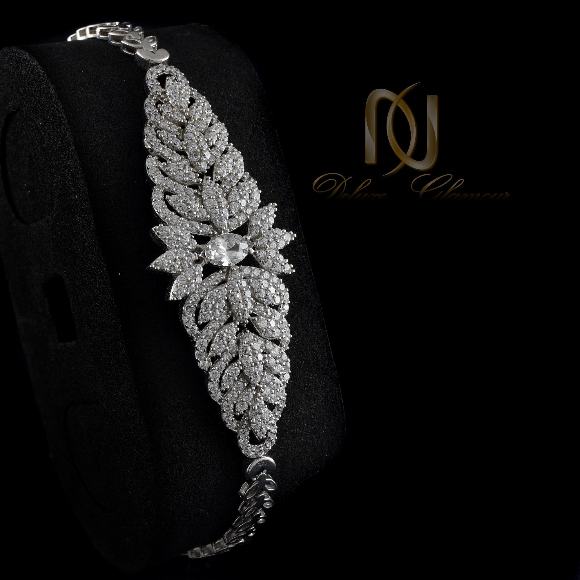 سرویس عروس نقره طرح جواهری ns-n257 از نمای دستبند