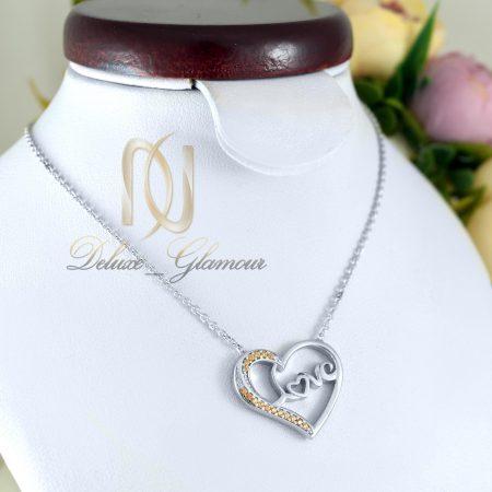گردنبند دخترانه نقره طرح قلب nw-n413