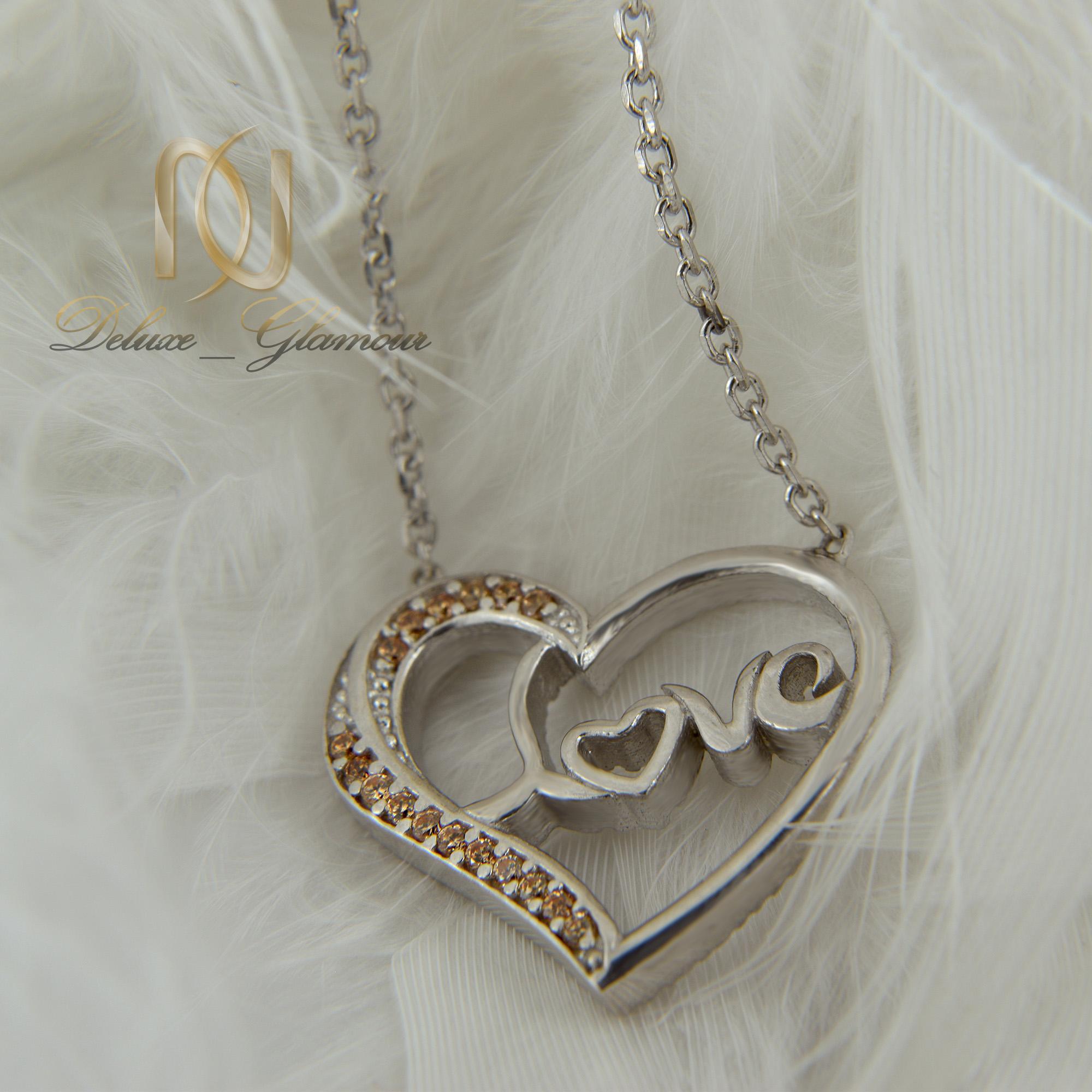 گردنبند دخترانه نقره طرح قلب nw-n413 (1)
