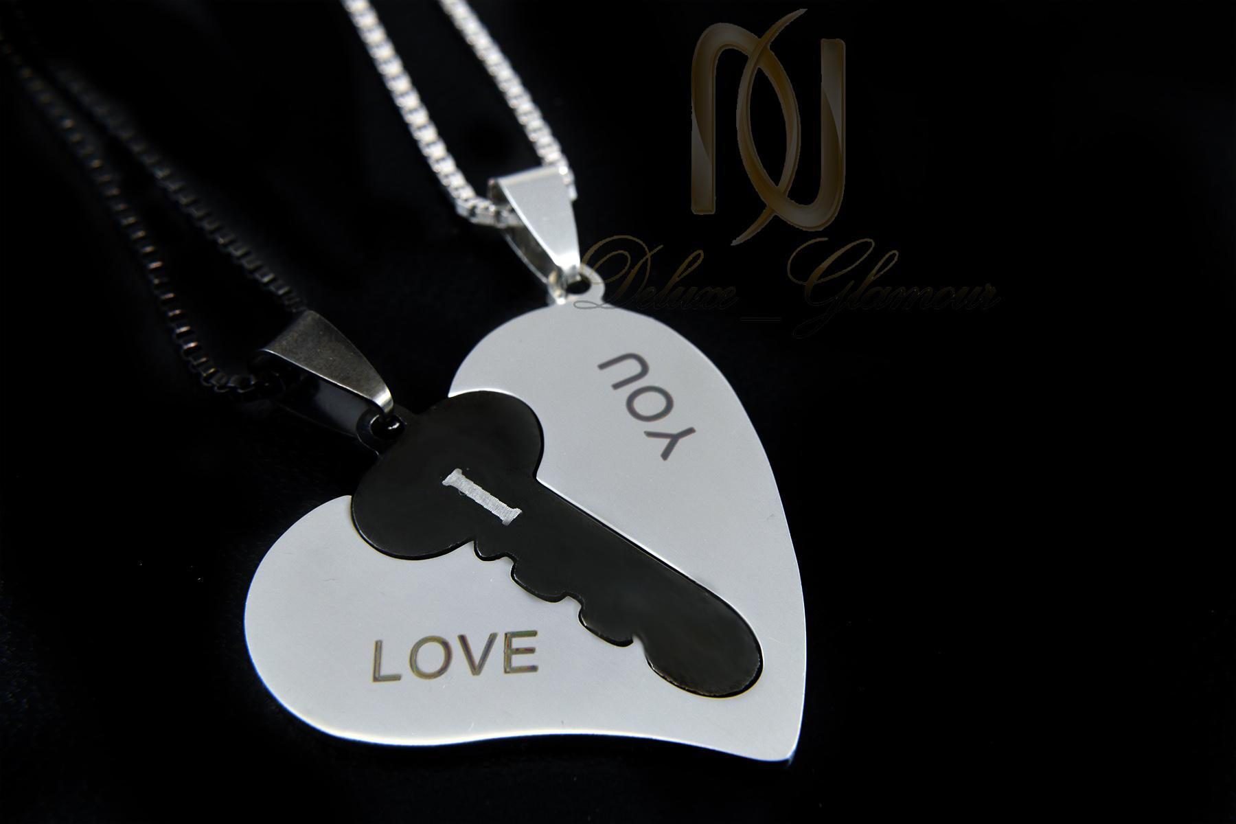 گردنبند ست عاشقانه طرح قلب و کلید mf-n115 (3)