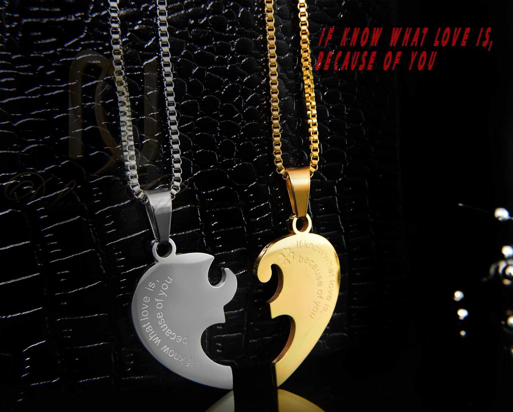 گردنبند ست عاشقانه طرح قلب  MF-N129