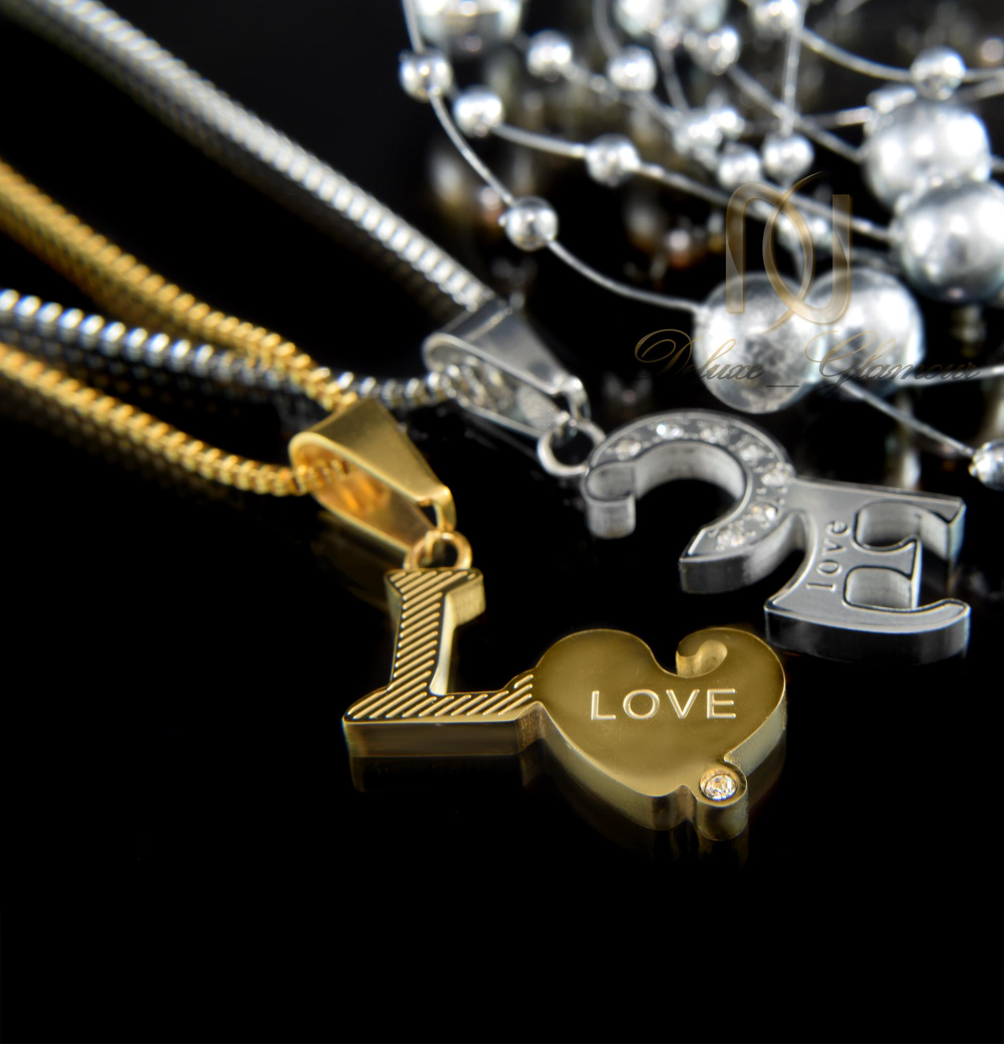 گردنبند ست عاشقانه طرح لاو و قلب mf-n117 (3)