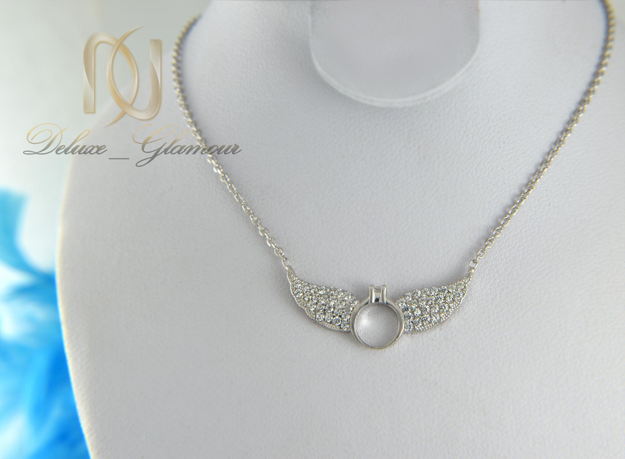 گردنبند نقره دخترانه طرح بال فرشته nw-n415 (4)