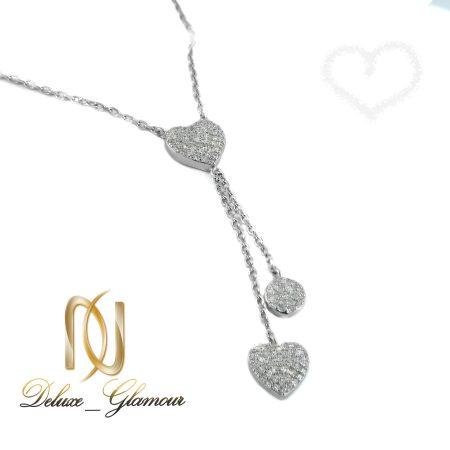 گردنبند نقره دخترانه طرح قلب nw-n410