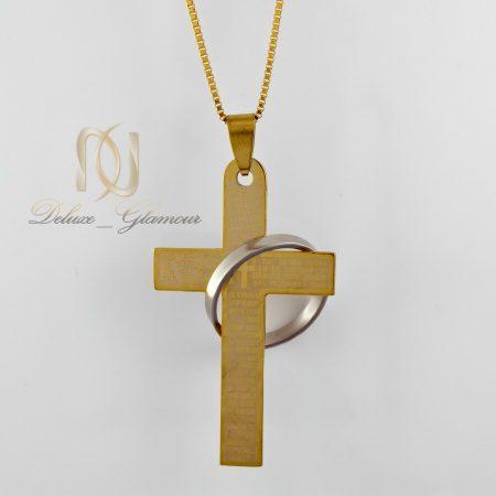 گردنبند پسرانه طرح صلیب طلایی nw-n401