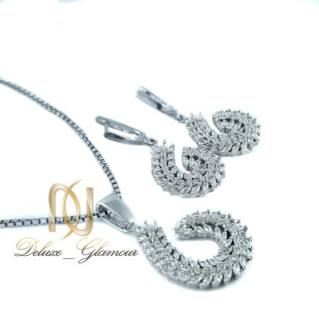 نیم ست جواهری نقره طرح خوشه Ds-n333 عکس اصلی