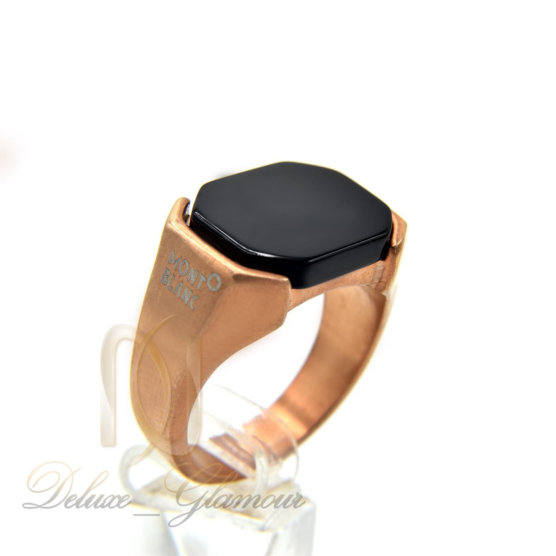 انگشتر مردانه مونت بلانک رزگلد rg-n283 از نمای دور