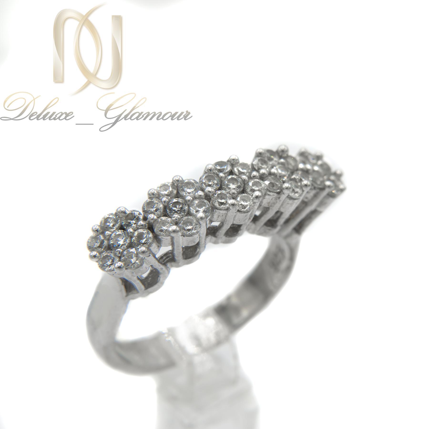 انگشتر نقره دخترانه طرح پنج شکوفه RG-N293 از نمای سفید