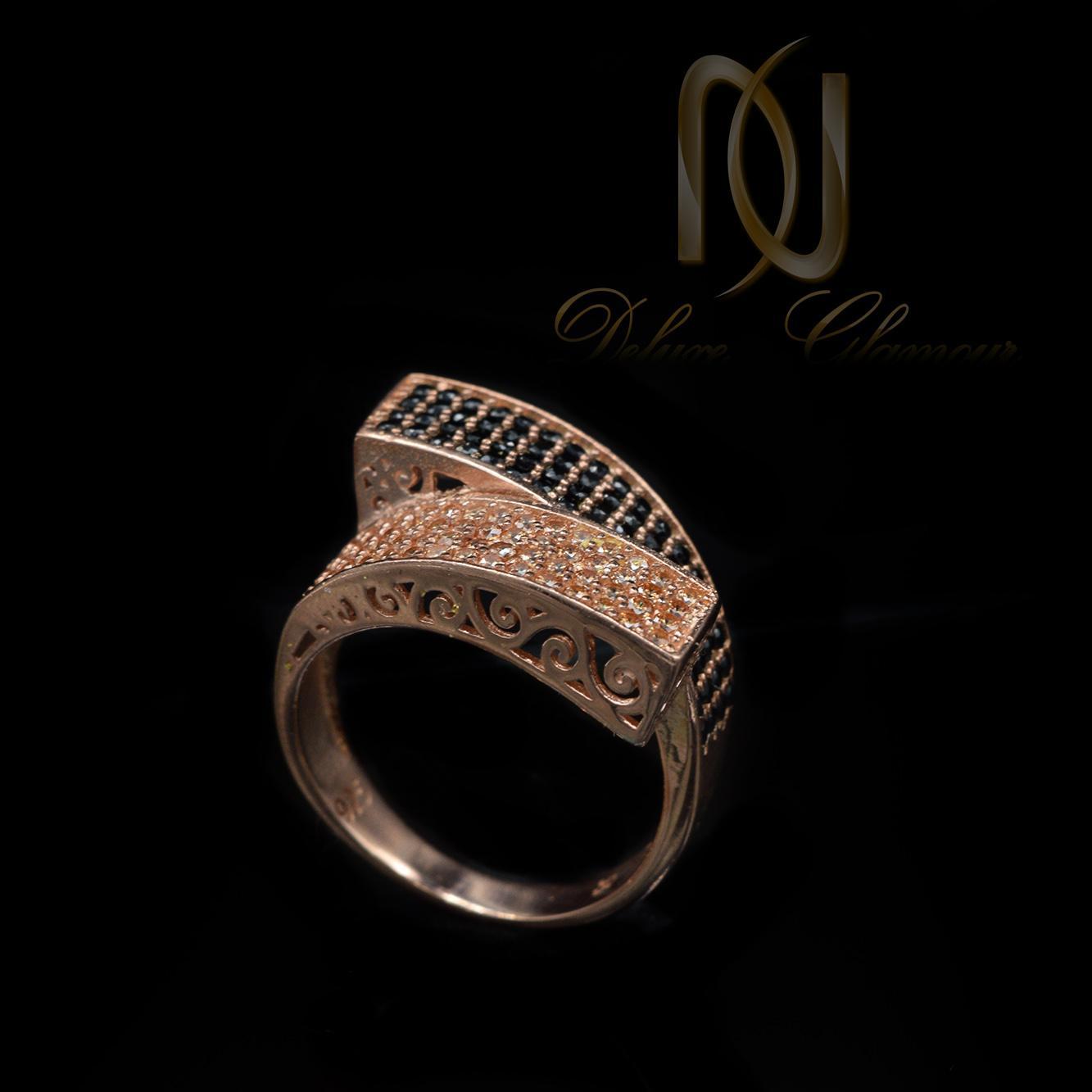 انگشتر نقره زنانه خاص رزگلد نگین دار rg-n288