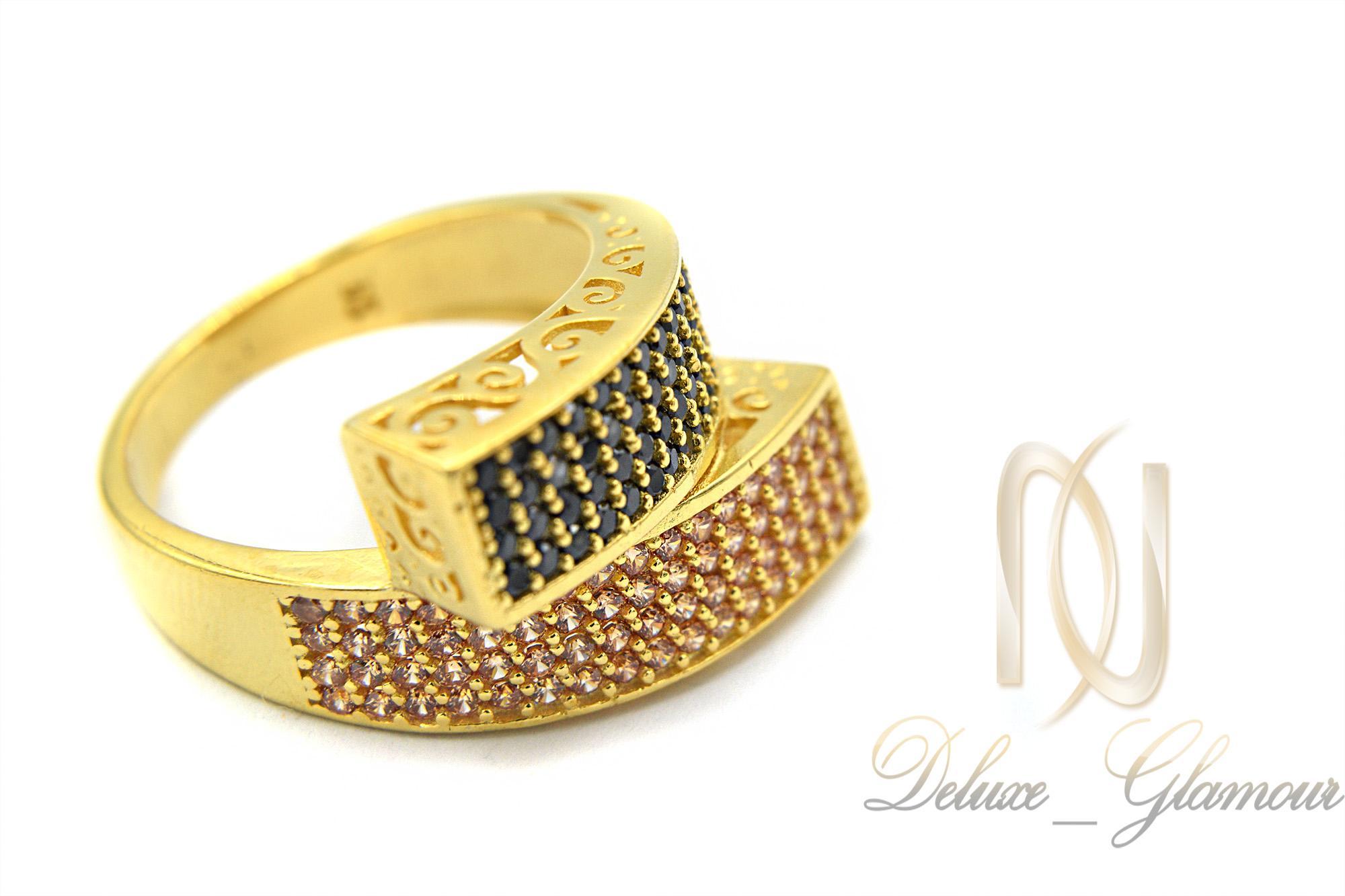 انگشتر نقره زنانه خاص طلایی rg-n281