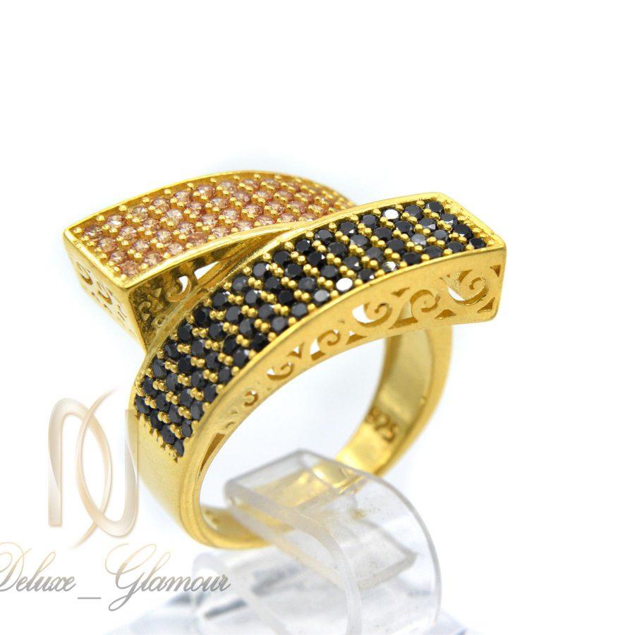 انگشتر نقره زنانه خاص طلایی rg-n281 از نمای سفید