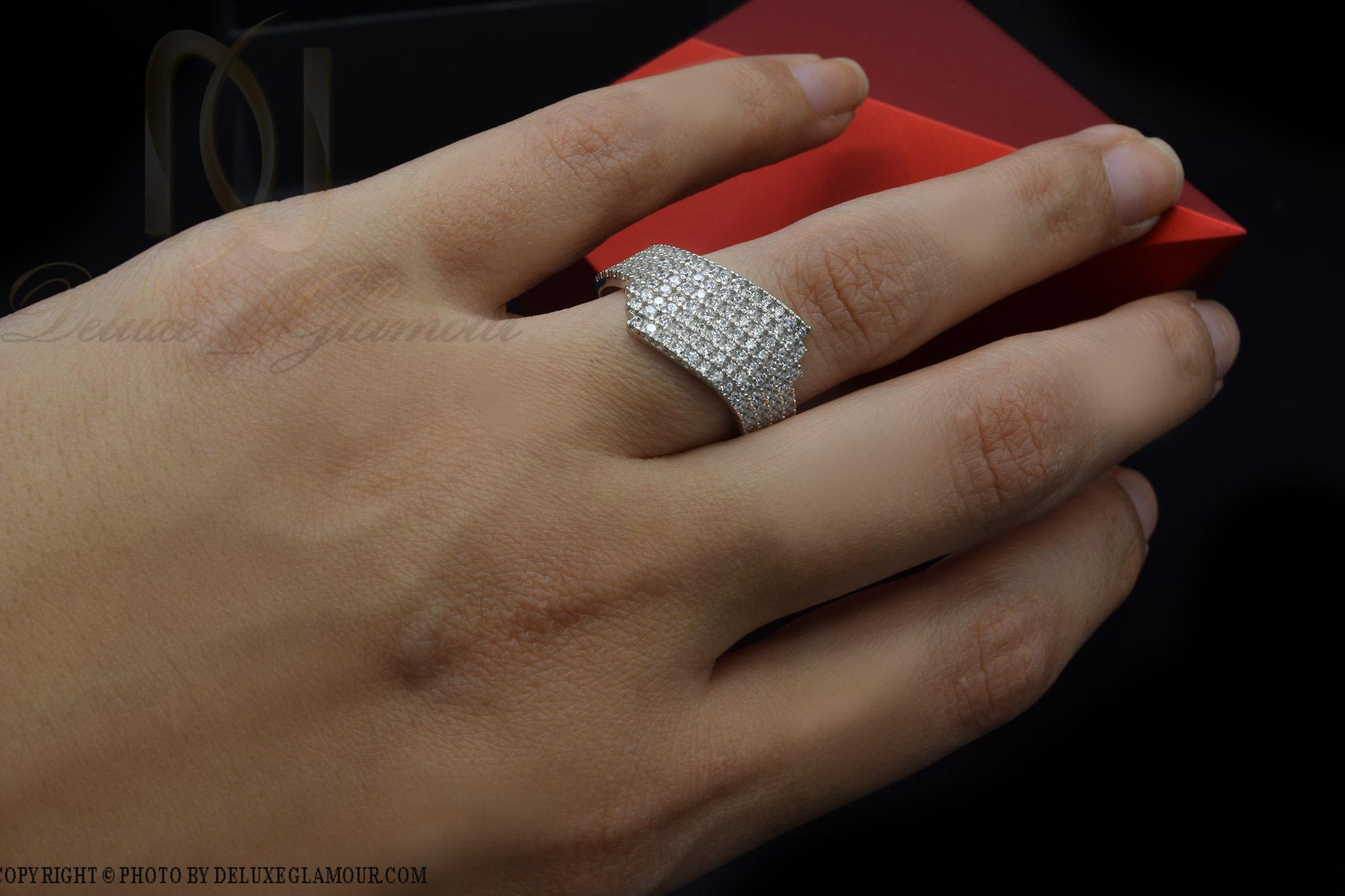 انگشتر نقره زنانه شیک نگین دار rg-n287