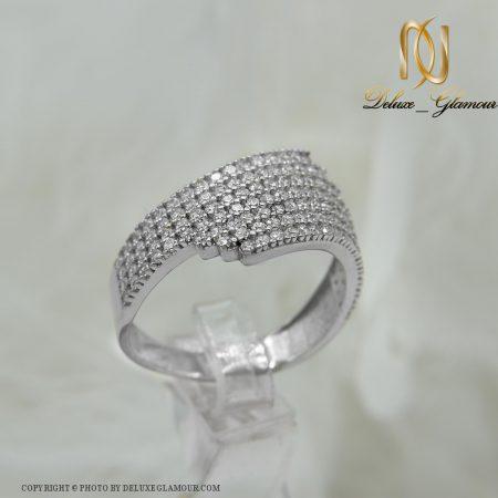 انگشتر نقره زنانه شیک نگین دار rg-n287 از نمای سفید