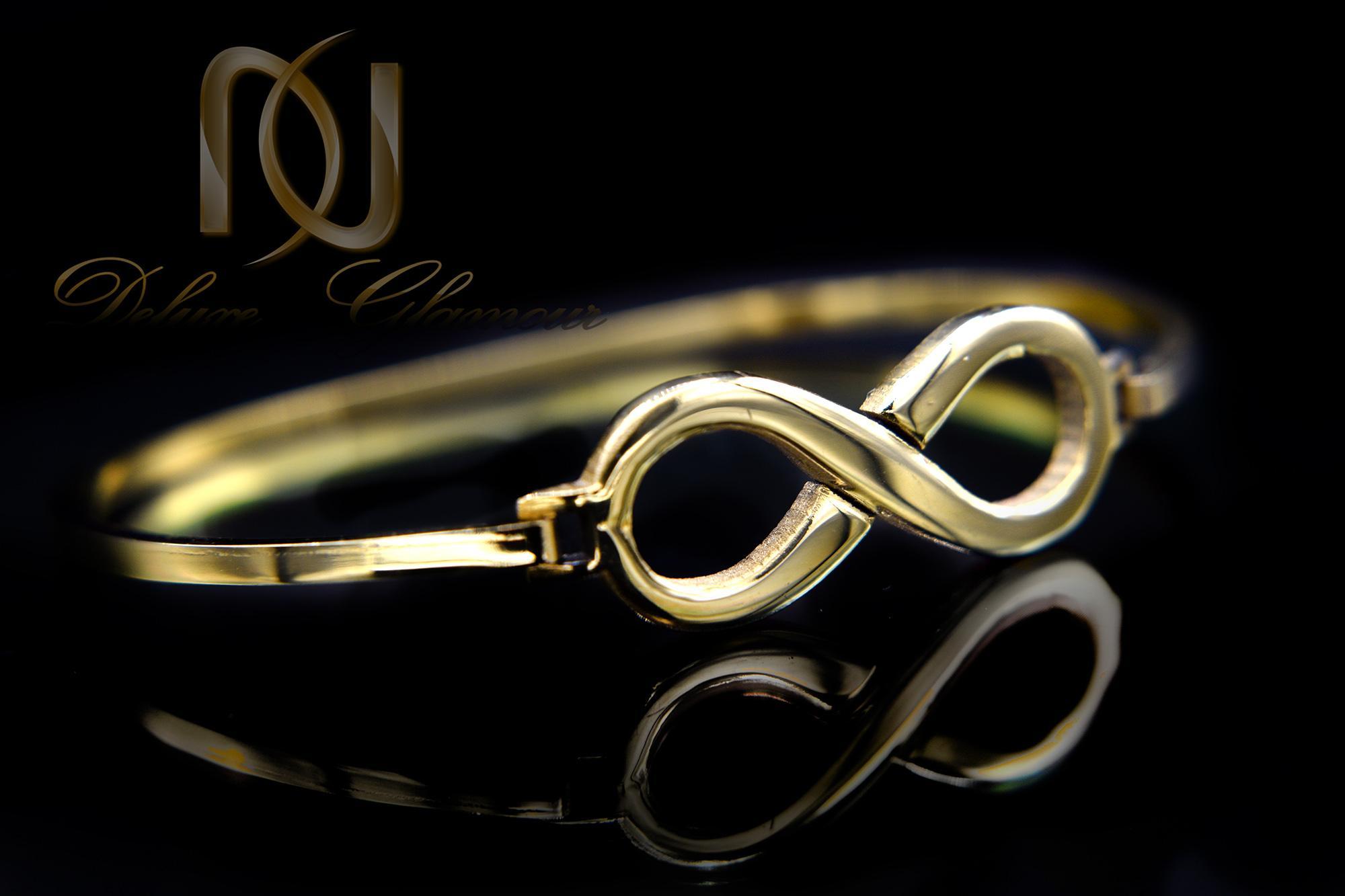 دستبند دخترانه استیل طرح بی نهایت DS-N376