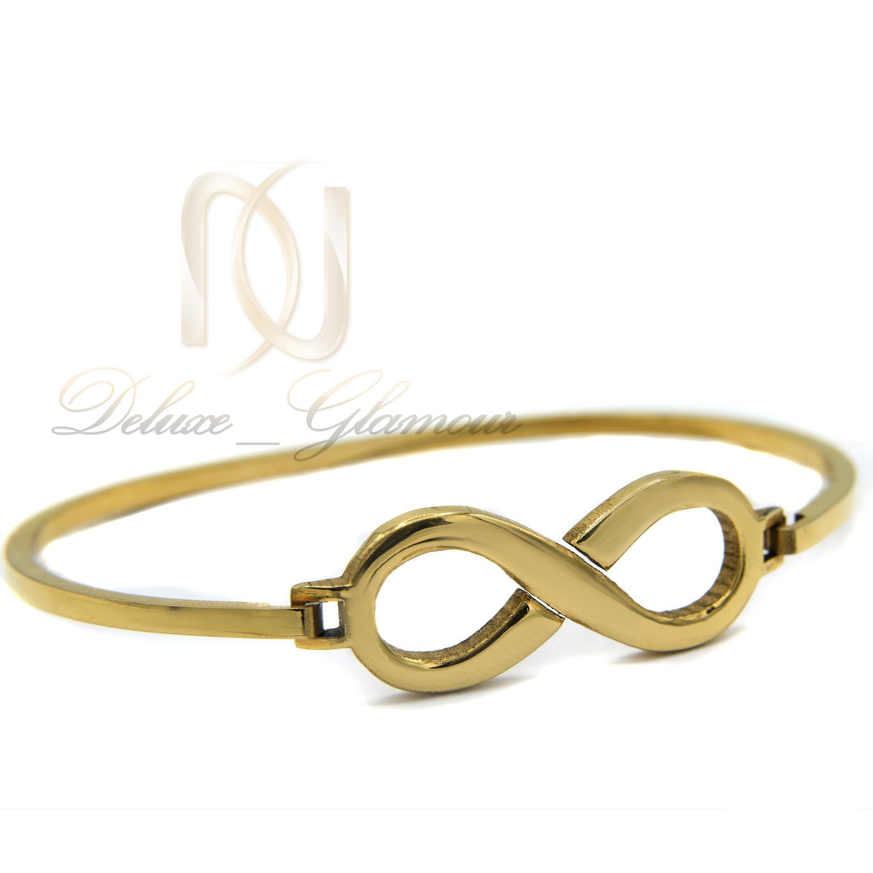 دستبند دخترانه استیل طرح بی نهایت DS-N376 از نمای سفید
