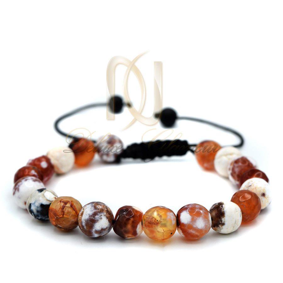 دستبند دخترانه دست ساز سنگ عقیق ZA-N104
