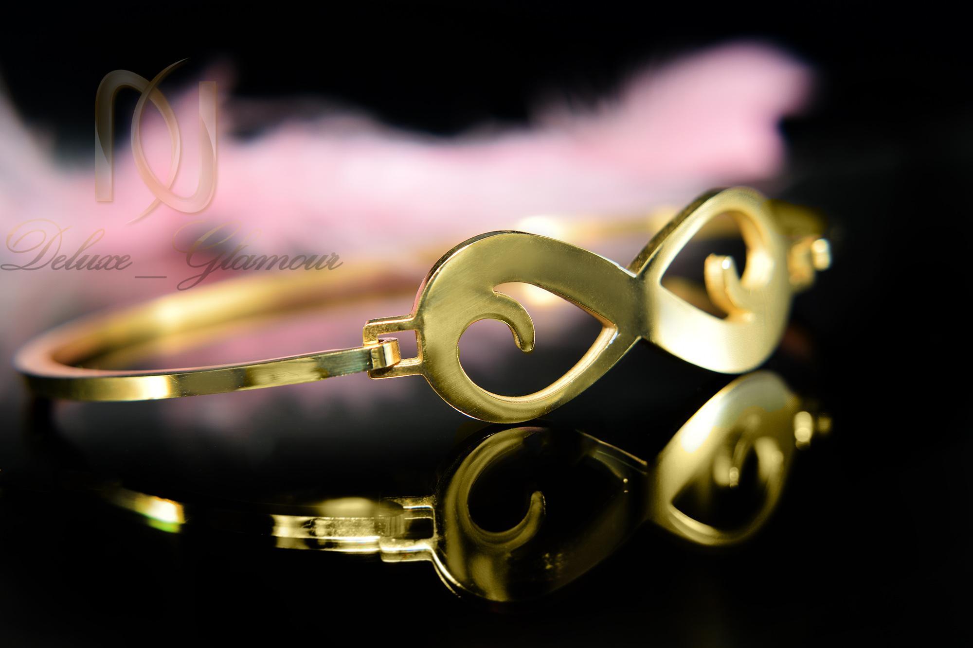 دستبند دخترانه طرح بی نهایت استیل ds-n379 از نمای نزدیک