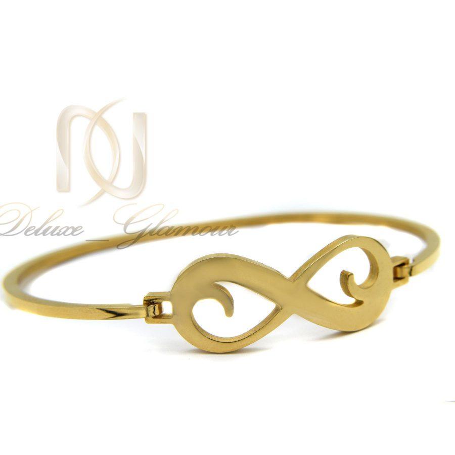 دستبند دخترانه طرح بی نهایت استیل ds-n379 از نمای سفید