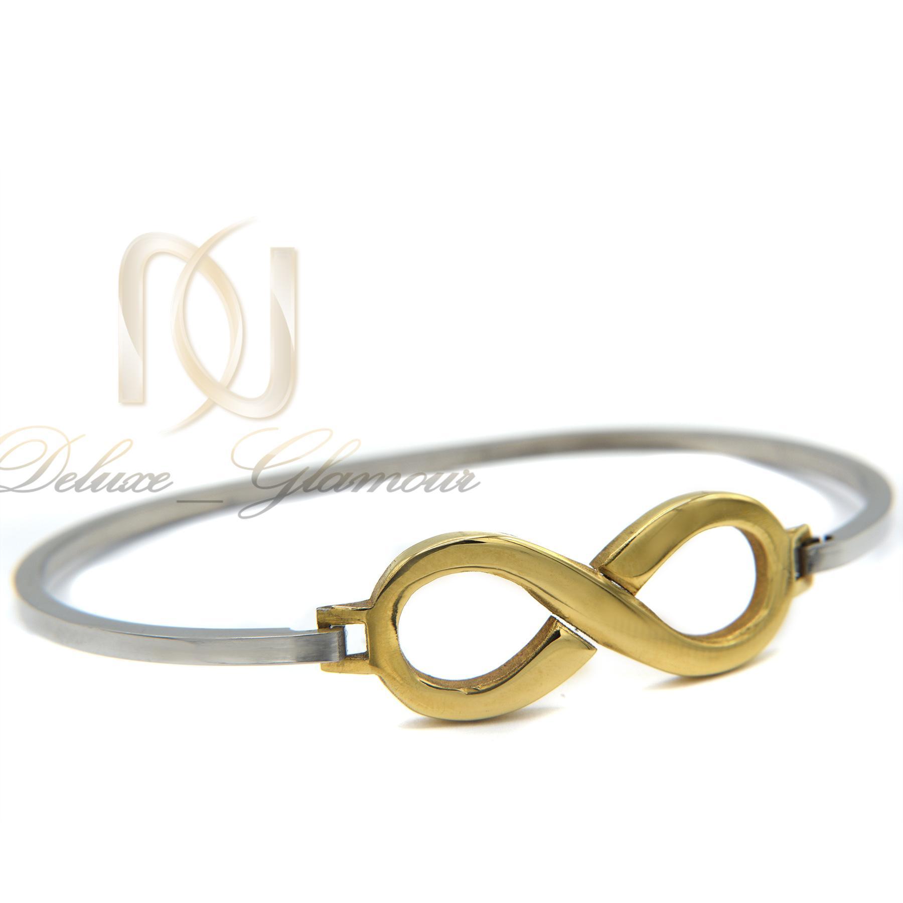 دستبند دخترانه طرح بی نهایت دو رنگ ds-n380 از نمای سفید