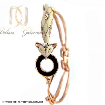 دستبند دخترانه نگین سواروسکی کلیو ds-n382 از نمای روبرو