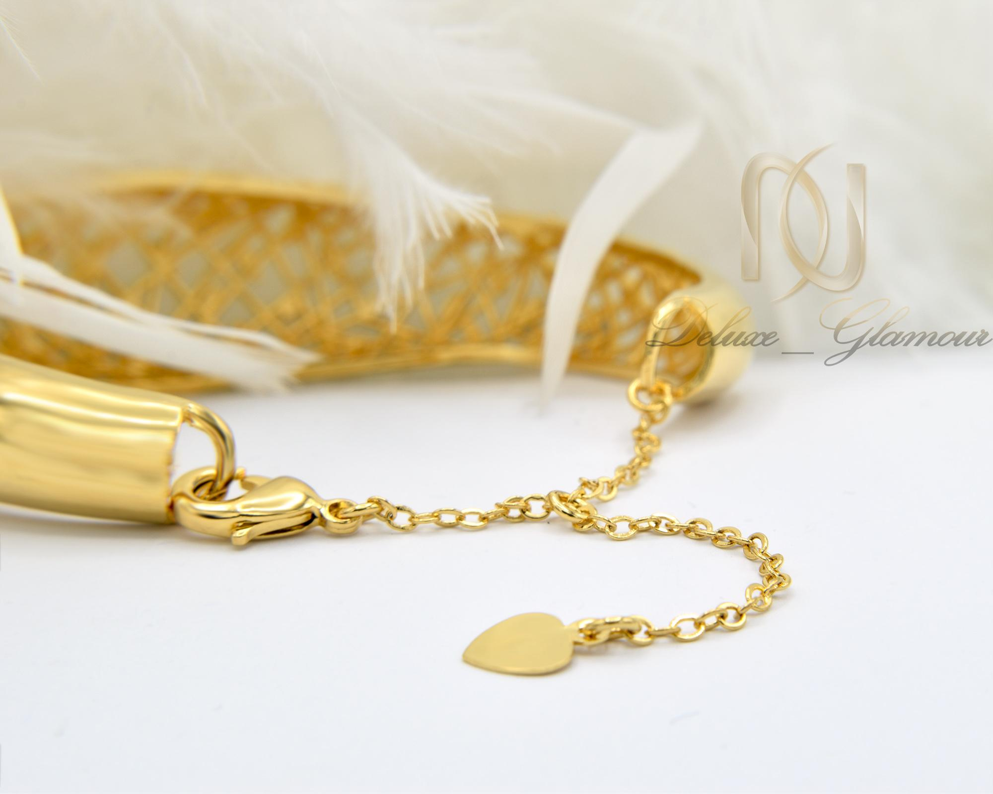 دستبند زنانه برنجی توری دو رنگ ds-n373