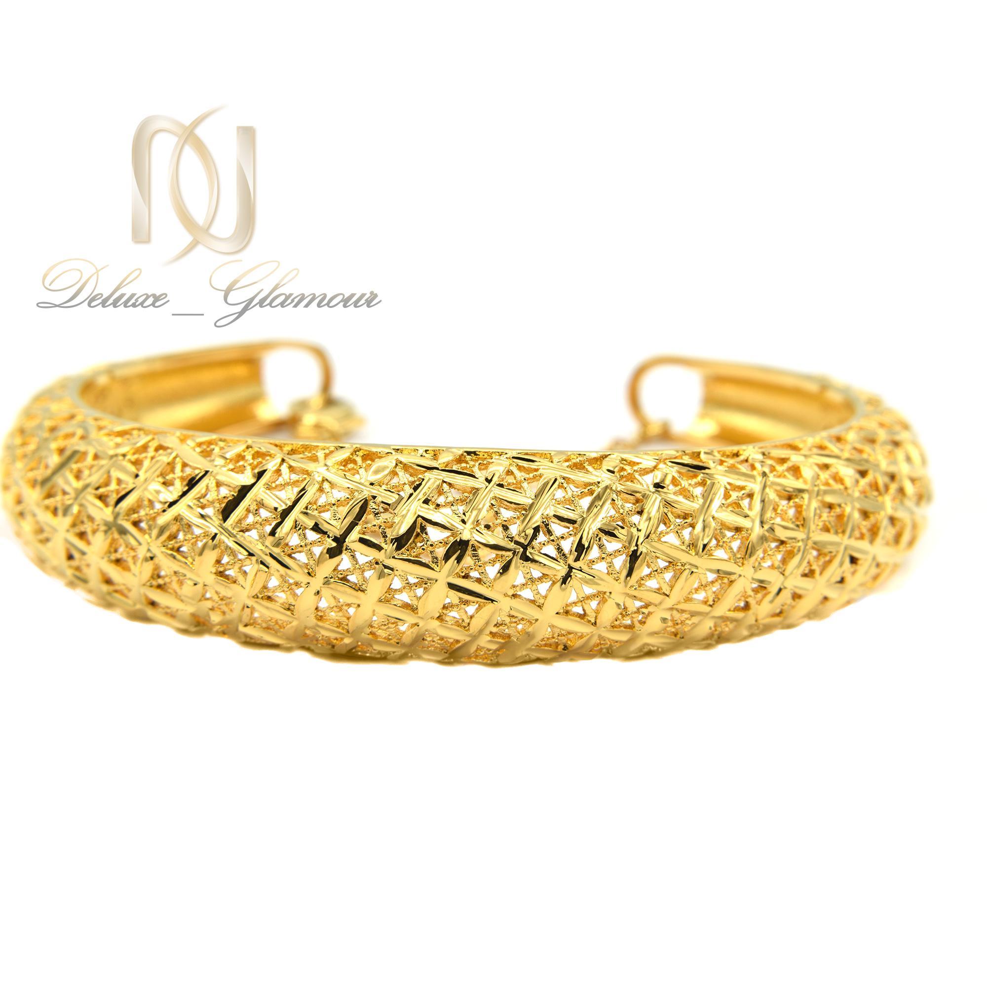 دستبند زنانه برنجی توری طرح طلا ds-n371
