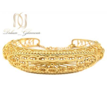 دستبند زنانه برنجی طرح طلا ds-n370 از نمای سفید