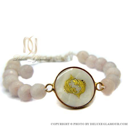 دستبند سنگ ماه تولد اسفند ds-n381 از نمای سفید