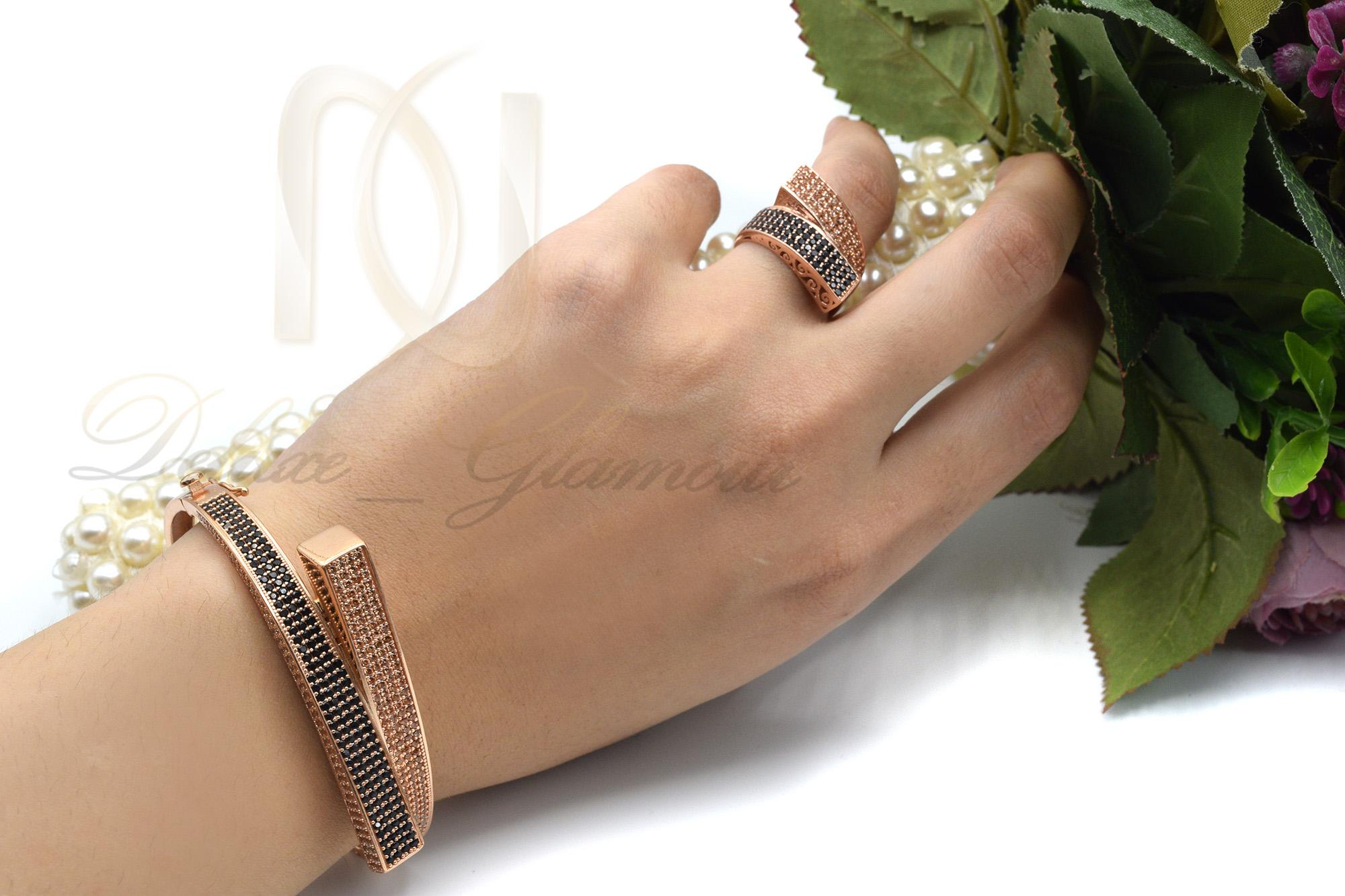 دستبند نقره زنانه خاص رزگلد DS-N360 (4)