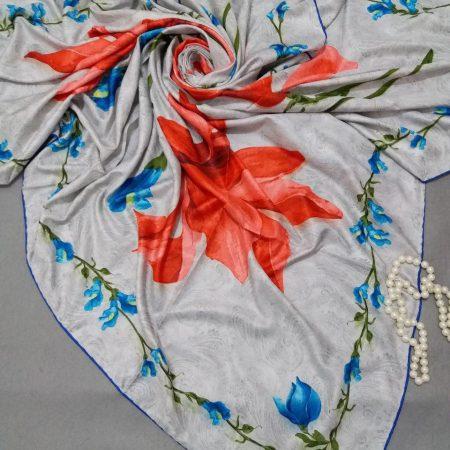 روسری ابریشم مدل جدید توییل کجراهsr-n259 از نمای نزدیک