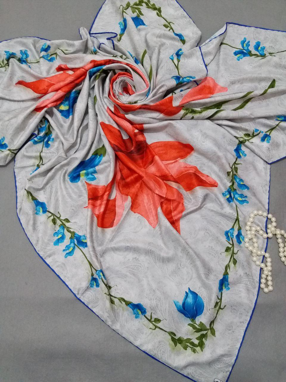 روسری ابریشم مدل جدید توییل کجراه sr-n259