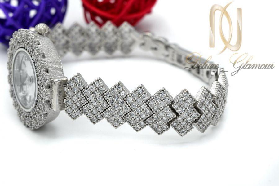 ساعت زنانه نقره اصل 925 جواهری wh-n126 از نمای کنار