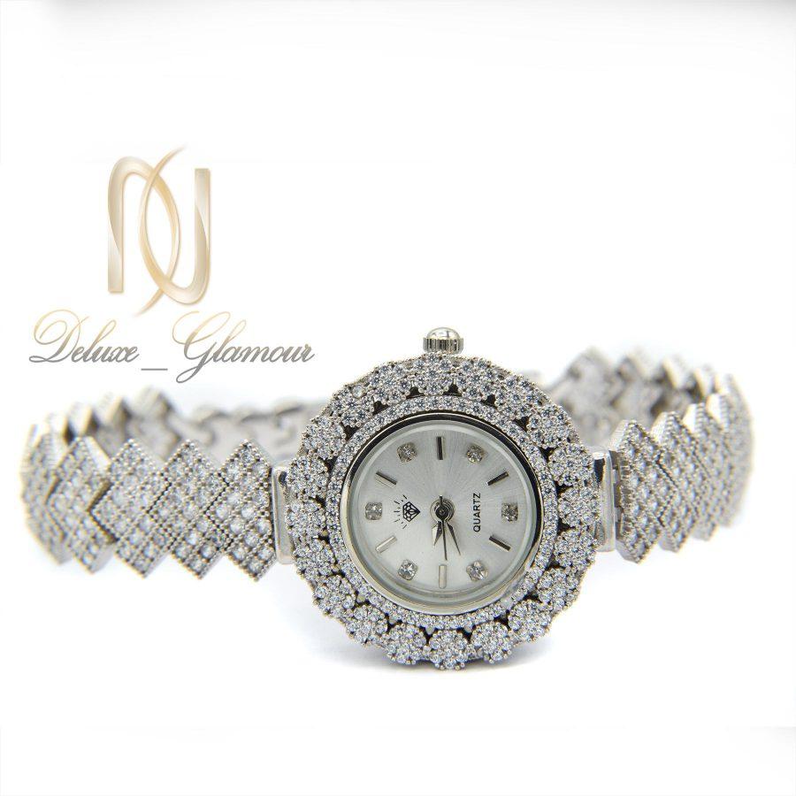 ساعت زنانه نقره اصل 925 جواهری wh-n126 از نمای روبرو