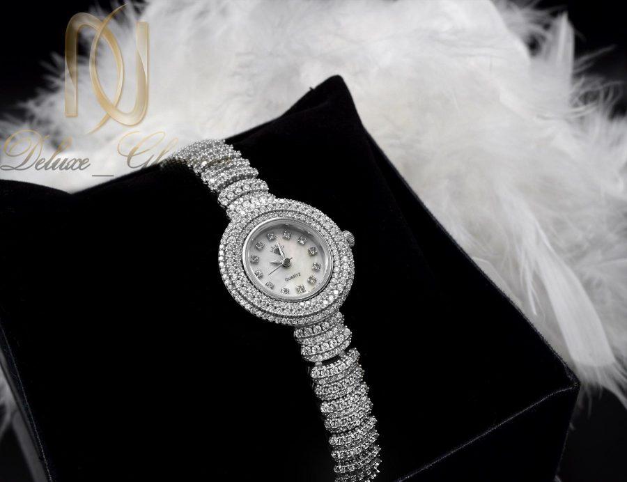 ساعت نقره زنانه جواهری صفحه گرد wh-n125 از نمای بالا
