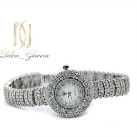 ساعت نقره زنانه جواهری صفحه گرد wh-n125