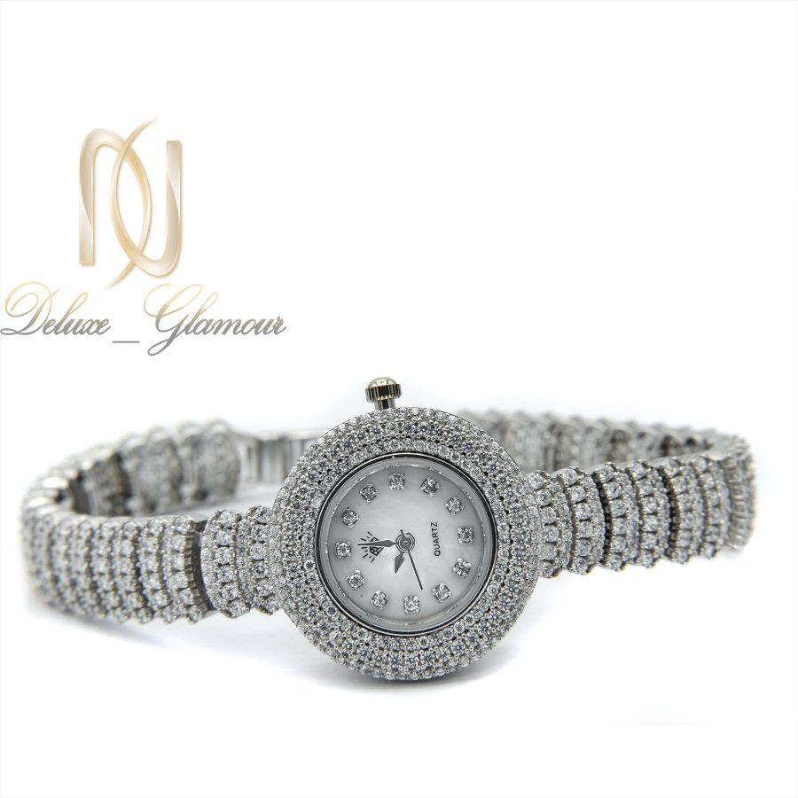 ساعت نقره زنانه جواهری صفحه گرد wh-n125 از نمای سفید
