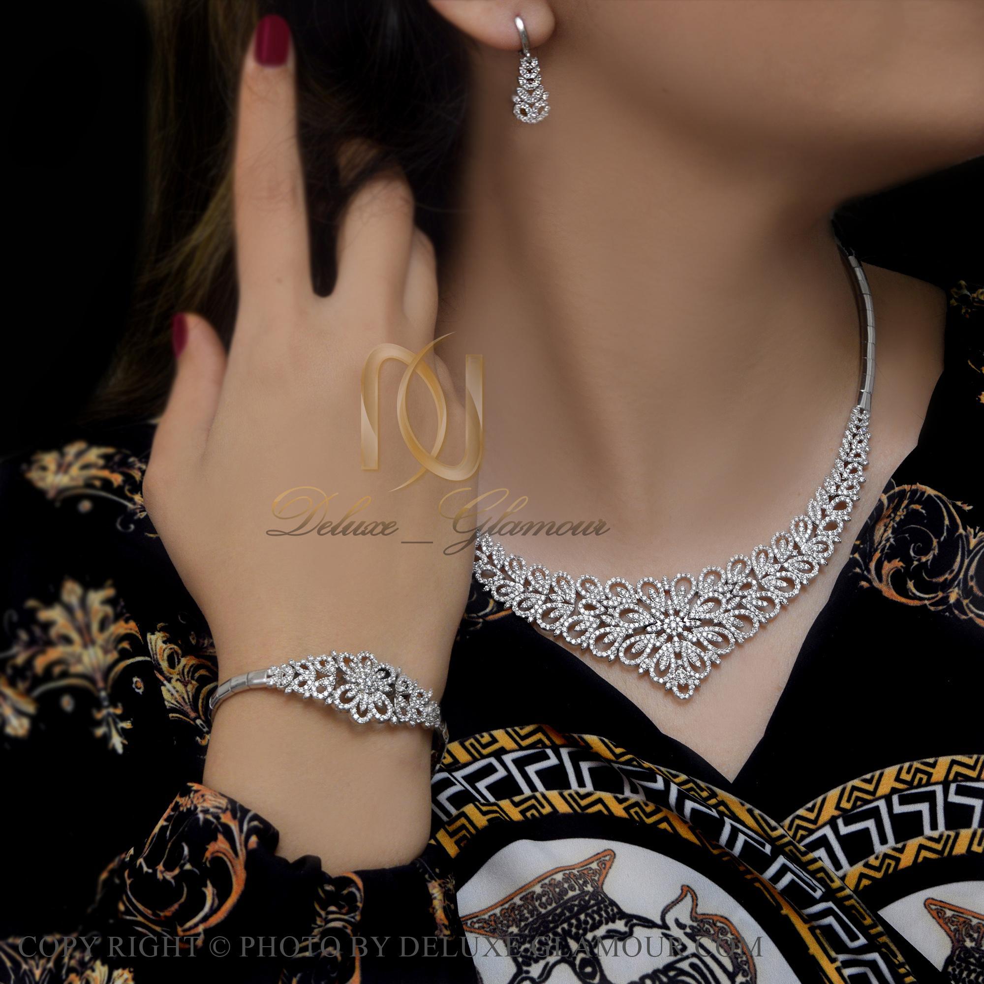 سرویس نقره طرح جواهر جدید ns-n419 از نمای روبرو