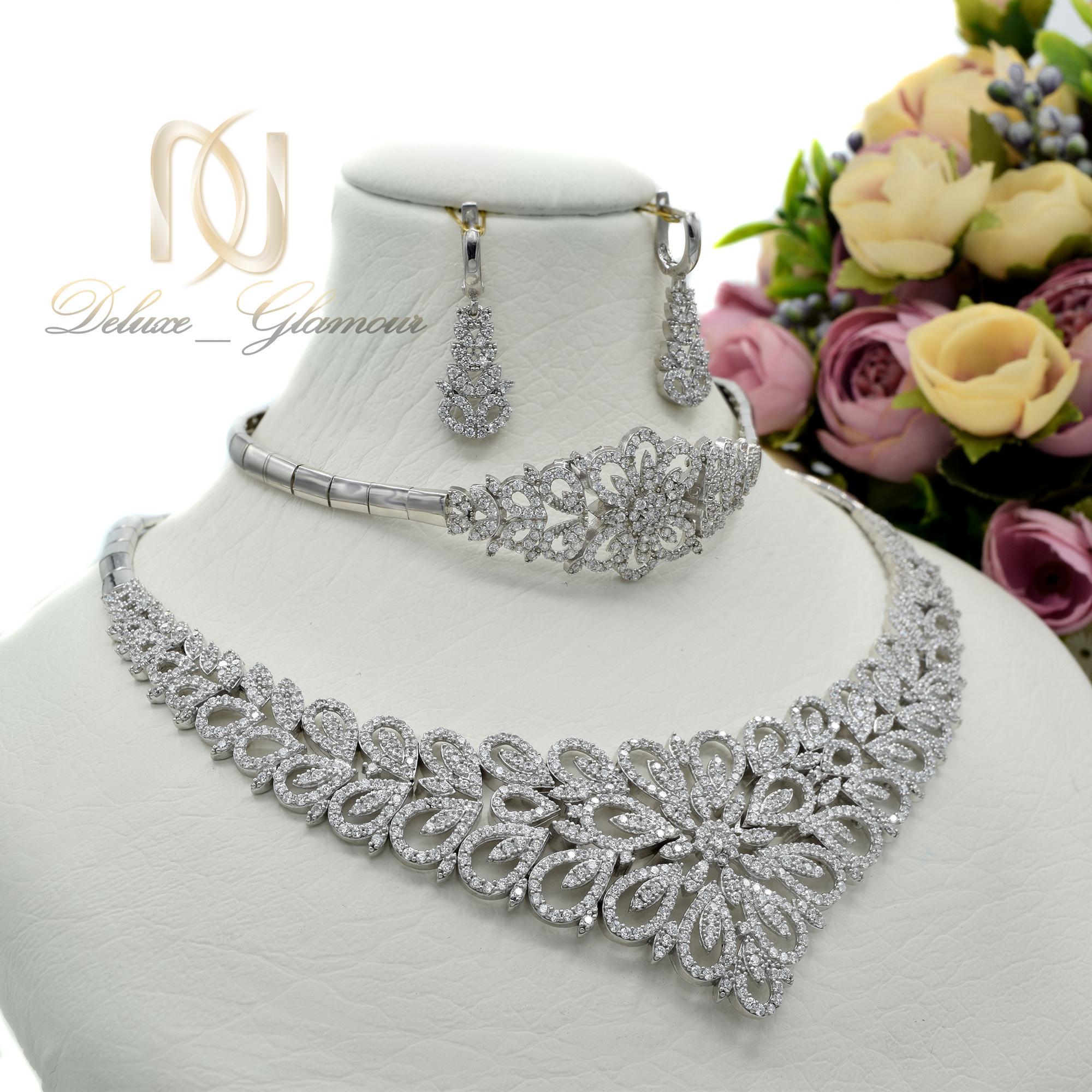 سرویس نقره طرح جواهر جدید ns-n419 از نمای سفید