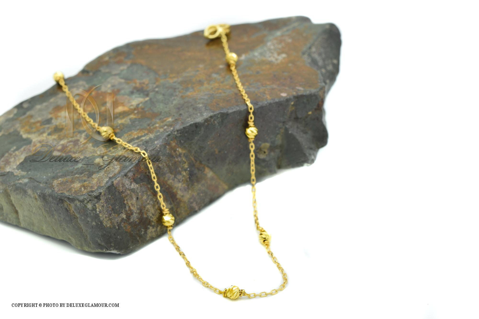 پابند نقره دخترانه ظریف طلایی pa-n126 از نمای کنار