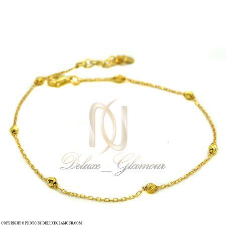 پابند نقره دخترانه ظریف طلایی pa-n126 از نمای سفید