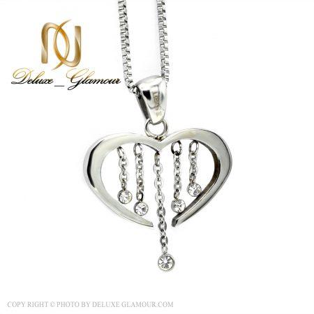 گردنبند دخترانه استیل طرح قلب nw-n436