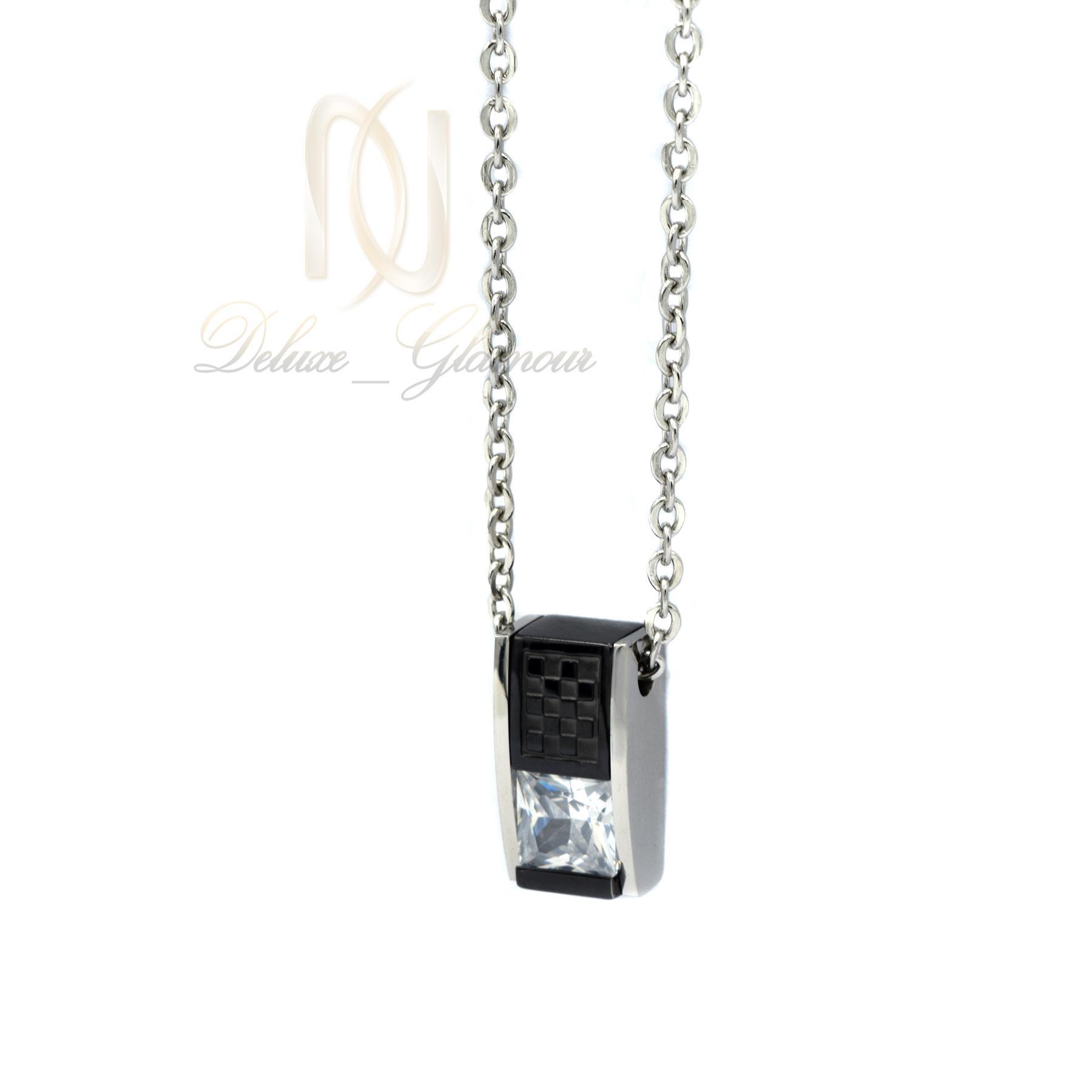 گردنبند دخترانه اسپرت استیل nw-n424 از نمای روبرو