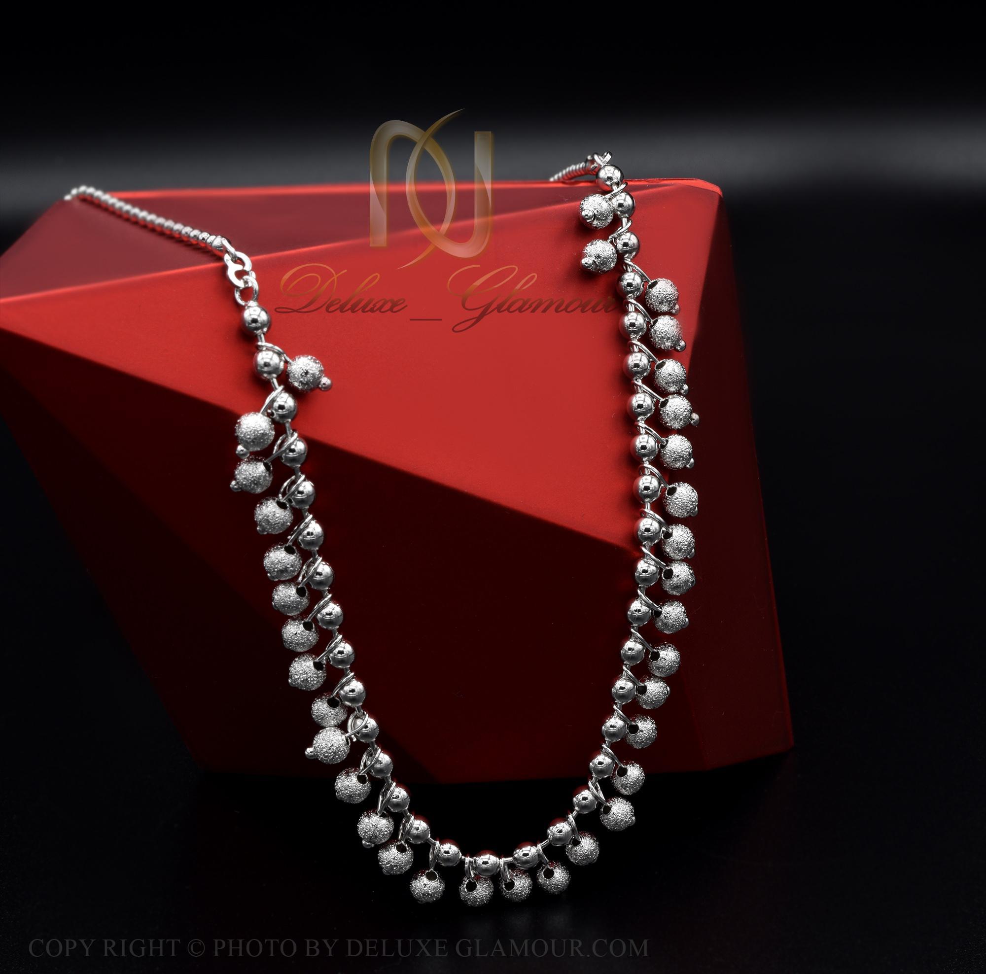 گردنبند سینه ریز زنانه آویزدار ژوپینگ nw-n434 از نمای مشکی