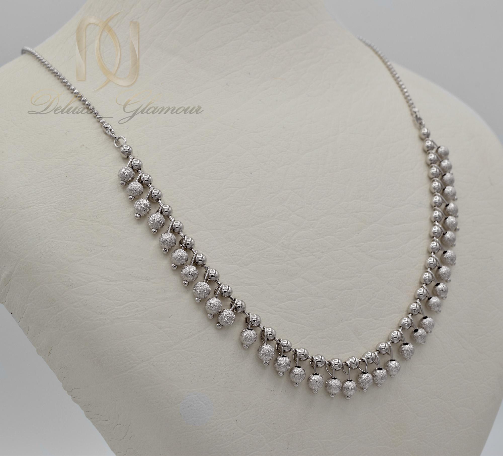 گردنبند سینه ریز زنانه آویزدار ژوپینگ nw-n434 از نمای روبرو