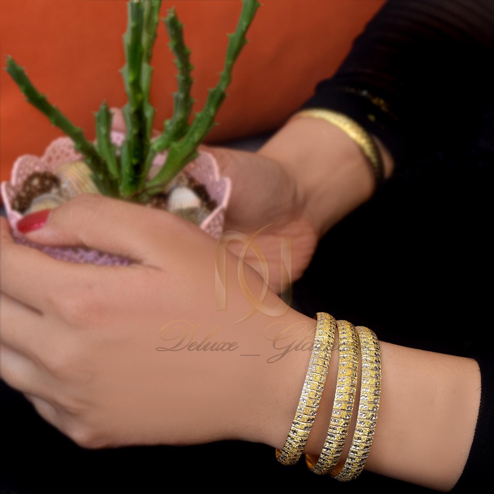 النگو با روکش آب طلا و آبکاری نقره طلایی