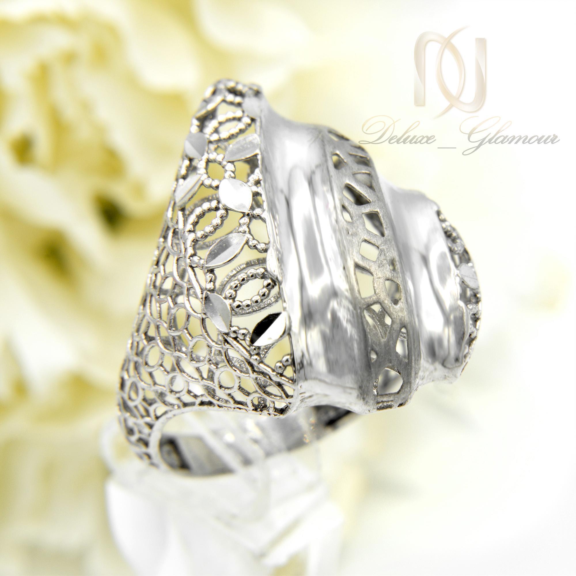 انگشتر زنانه نقره تراش طرح طلا rg-n306
