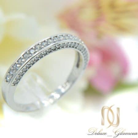 انگشتر نقره زنانه طرح حلقه نگین دار rg-n301 از نمای روبرو